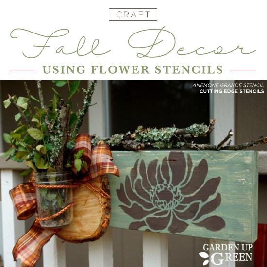 40 Nature Inspired Fall Decorating Ideas And Easy Diy Decor: Craft Fall Decor Using Flower Stencils