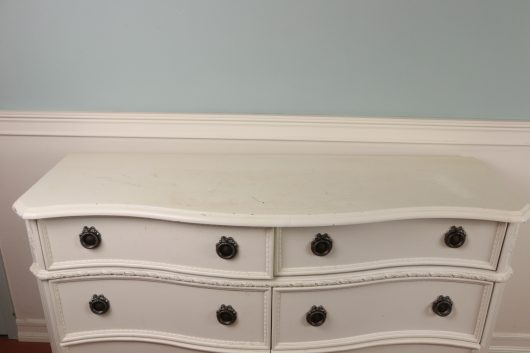 A Craigslist dresser before its stenciled makeover. http://www.cuttingedgestencils.com/roses-stencil-pattern-rose-design.html
