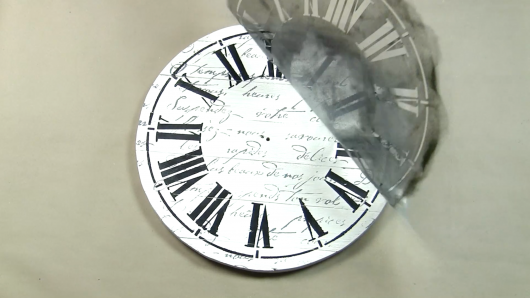 Learn how to stencil a DIY farmhouse wall clock using the Clock Stencil from Cutting Edge Stencils. http://www.cuttingedgestencils.com/farm-house-clock-stencil-wall-stencils-rustic-clock.html
