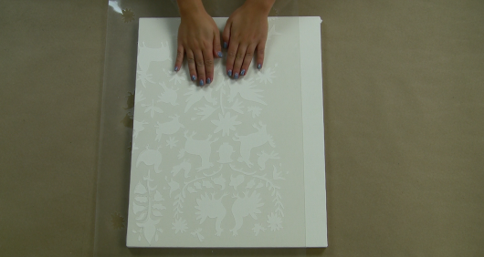 Learn how to make DIY Otomi Wall Art similar to Anthropologie for a fraction of the cost using the Otomi Craft Stencil from Cutting Edge Stencils. http://www.cuttingedgestencils.com/otomi-pattern-craft-stencil-DIY-home-decor-project.html
