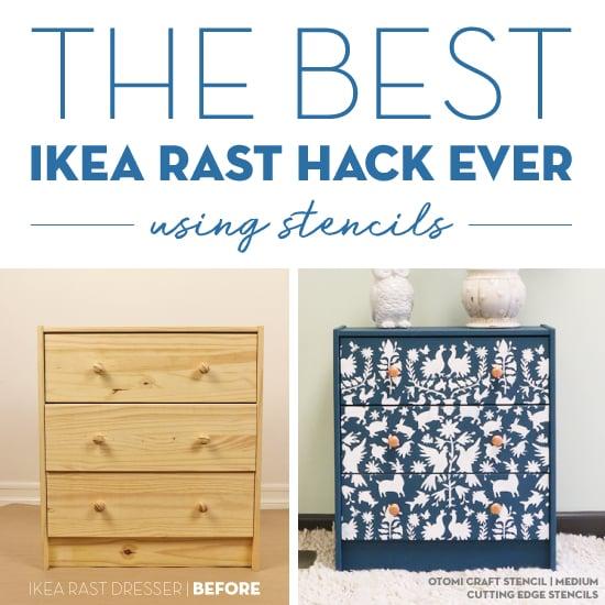 the best ikea rast hack ever using stencils stencil stories stencil stories - Ikea Rast