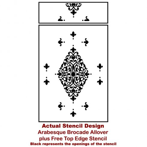 The ARABESQUE BROCADE DAMASK STENCIL from Cutting Edge Stencils. http://www.cuttingedgestencils.com/damask-stencil-arabesque-brocade-moroccan-stencils-for-walls.html