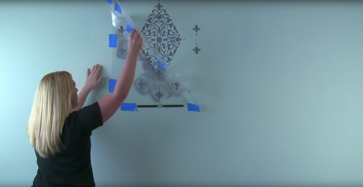 Learn how to stencil an accent wall using the Arabesque Brocade Damask Stencil from Cutting Edge Stencils. http://www.cuttingedgestencils.com/damask-stencil-arabesque-brocade-moroccan-stencils-for-walls.html