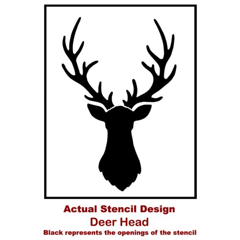 The Deer Head Stencil from Cutting Edge Stencils. http://www.cuttingedgestencils.com/deer-head-wall-stencil-deer-antlers-stencils-for-walls.html