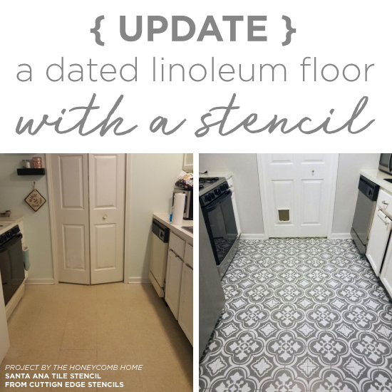 Update A Dated Linoleum Floor With A Stencil