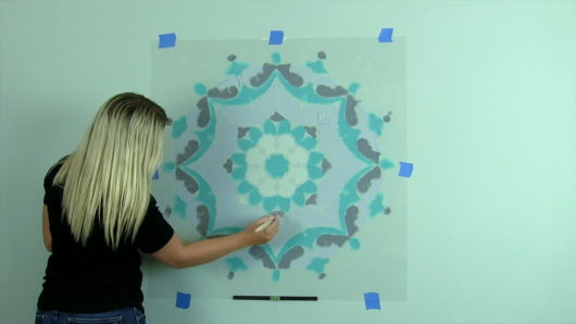 Learn how to paint wall art using the Estella Mandala Stencil from Cutting Edge Stencils. http://www.cuttingedgestencils.com/estella-mandala-stencil-wall-stencils-designs.html