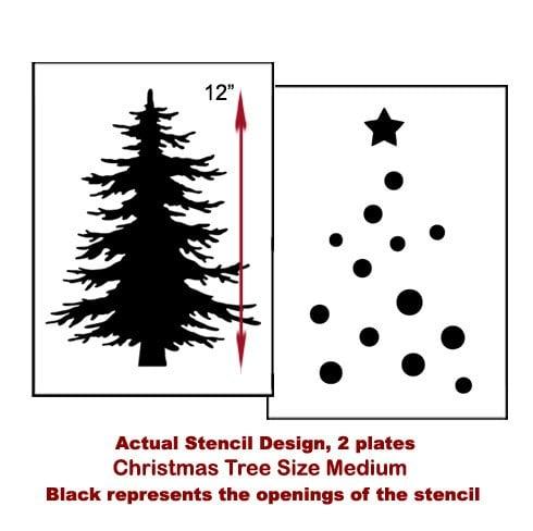 The Christmas Tree Craft Stencil from Cutting Edge Stencils. http://www.cuttingedgestencils.com/christmas-tree-stencil.html