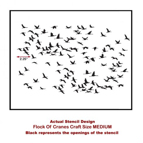 The Flock of Cranes Craft Stencil from Cutting Edge Stencils. http://www.cuttingedgestencils.com/flock-of-cranes-diy-craft-project-stencils.html