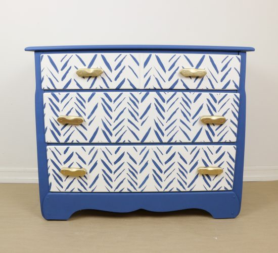 Learn how to makeover thrift store furniture using paint and the Brush Strokes Stencil pattern from Cutting Edge Stencils. http://www.cuttingedgestencils.com/brush-strokes-wall-pattern-stencil-modern-wall-stencils.html