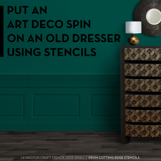 Stenciling furniture articles at stencil stories for Diy art deco furniture