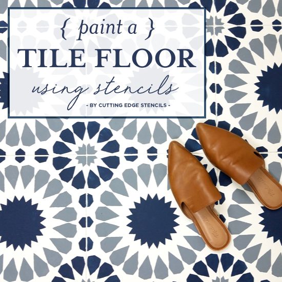 Paint A Tile Floor Using Stencils Stencil Stories