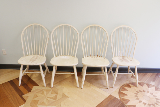 Old Kitchen Chairs Before A Painted Makeover Http Www Cuttingedgestencils