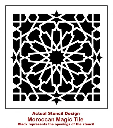 The Moroccan Magic Tile Stencil From Cutting Edge Stencils M Http Www
