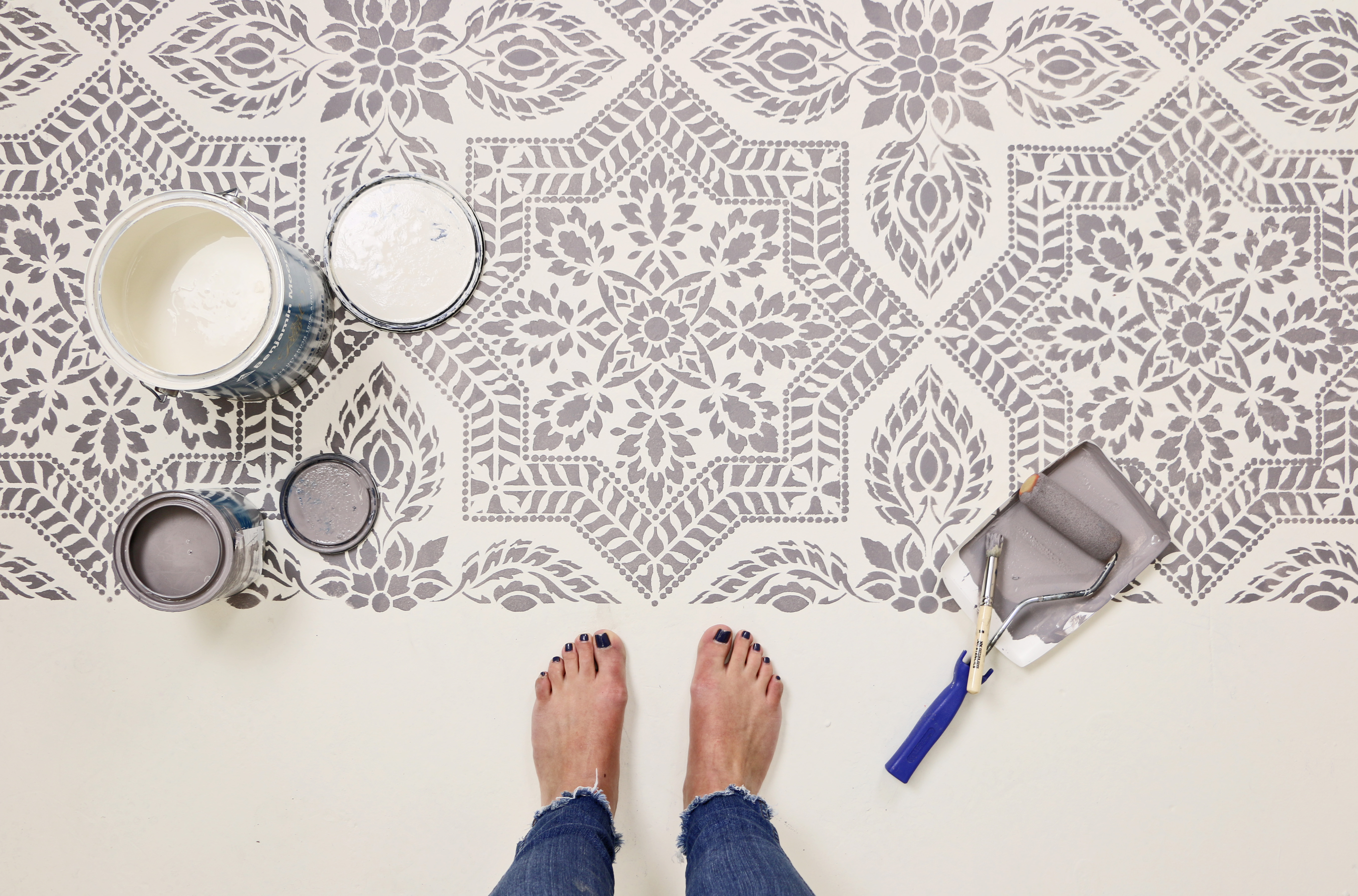 Alhambra Stenciled Floor Finished Project