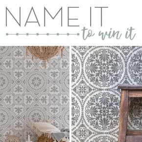 Name It To Win It: Two NEW Tile Stencils **CONTEST CLOSED**