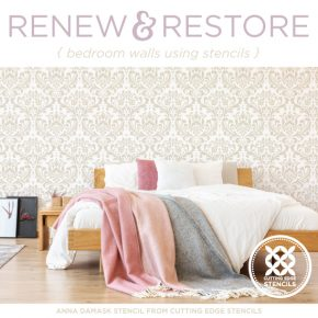 Renew and Restore Bedroom Walls Using Stencils