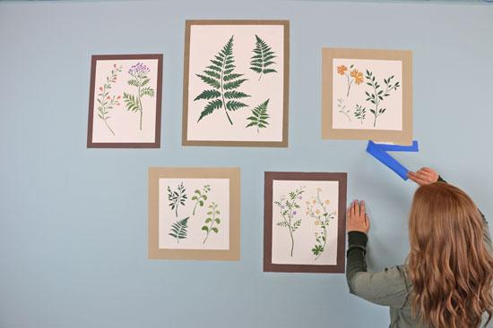 stenciled-galler-wall-botanical-stencils