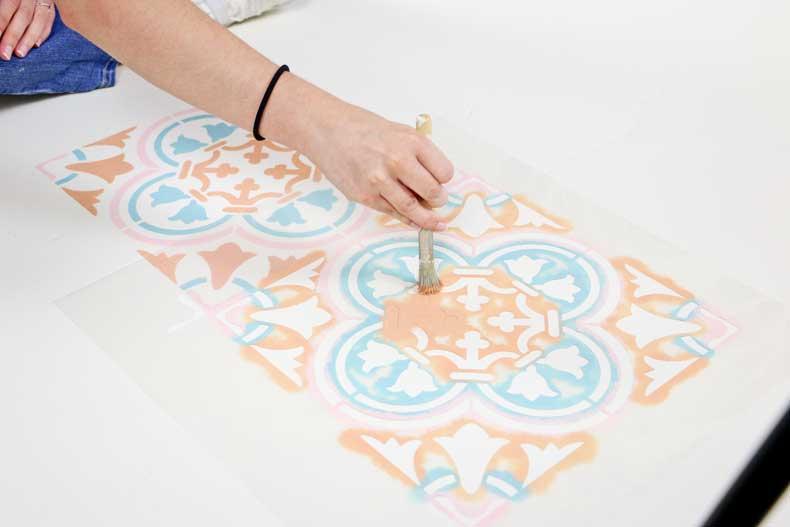 stencil pastel floor innermost section