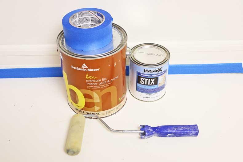 pastel tile floor primer