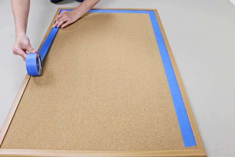 taping plain cork board