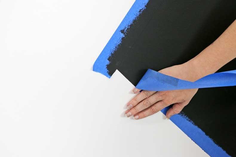 stenciled geometric nursery wall realign tape