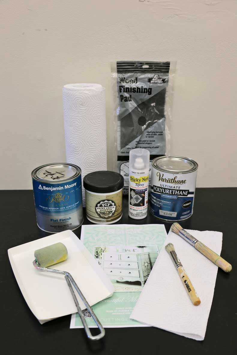 stenciled ikea table inlay products