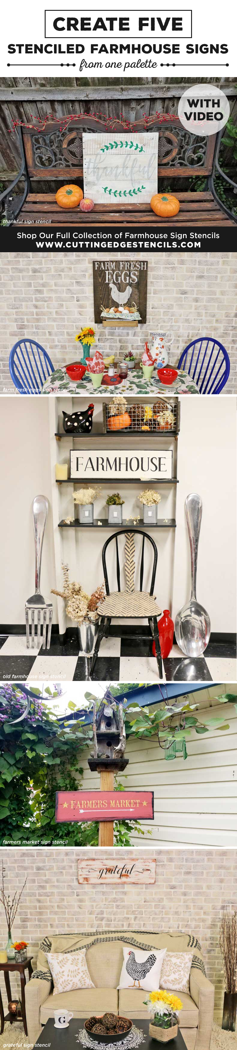 stenciled-farmhouse-signs-collage