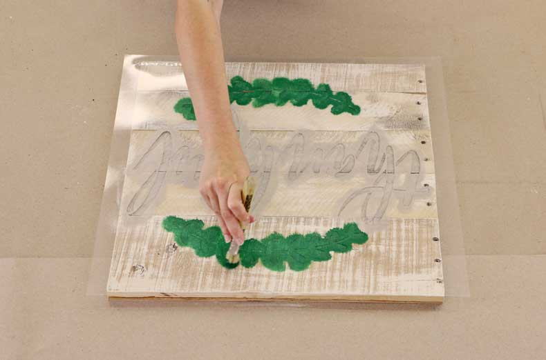 stenciled farmhouse signs stencil leaves
