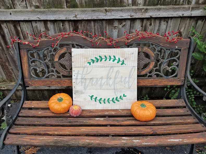 stenciled farmhouse signs thankful final