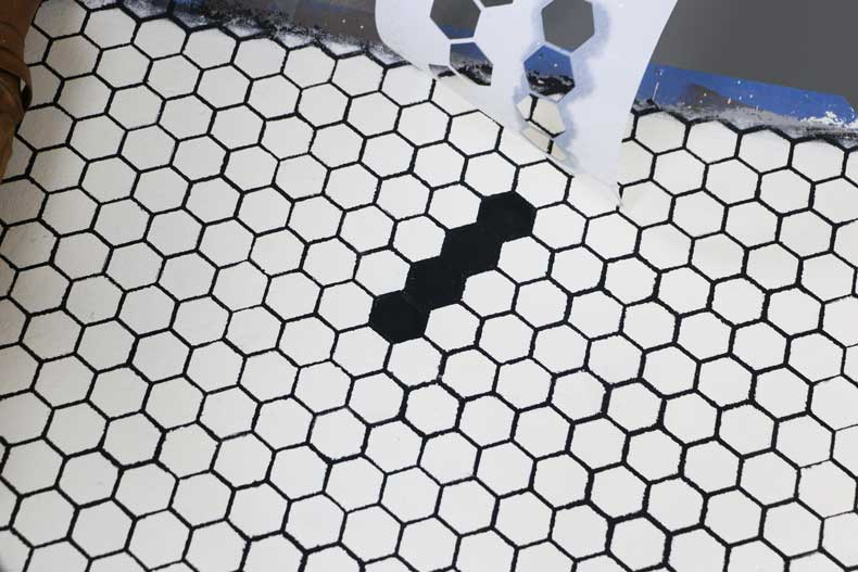stencil personalized tile floor letter peel