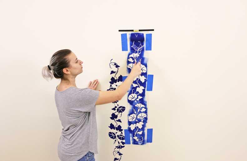 stencil floral feature wall stencil top