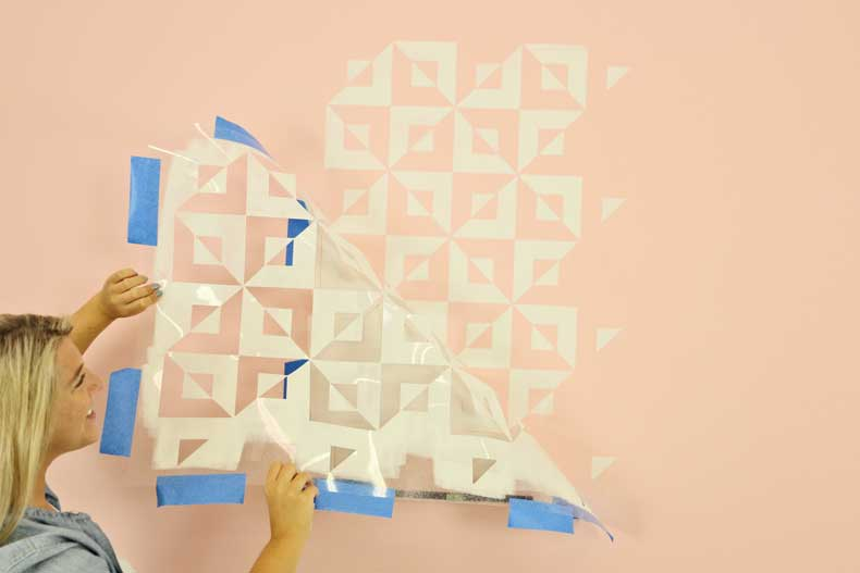 peel back tile stencil
