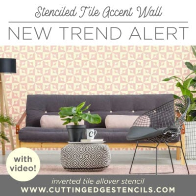 Stenciled Tile Accent Wall: New Trend Alert