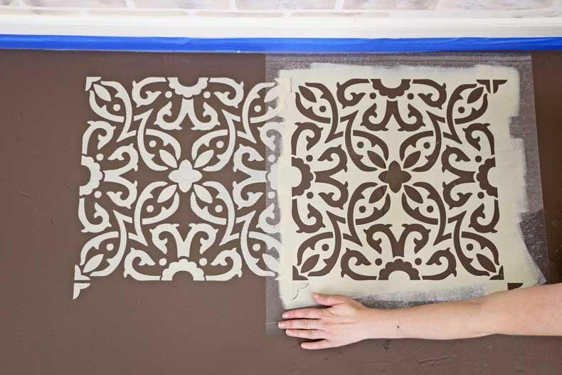 align tile stencil