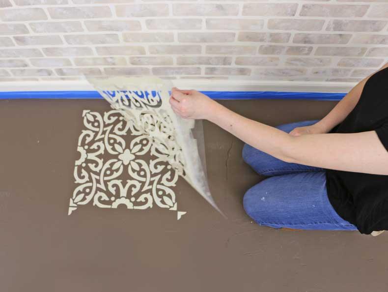 peeling tile stencil