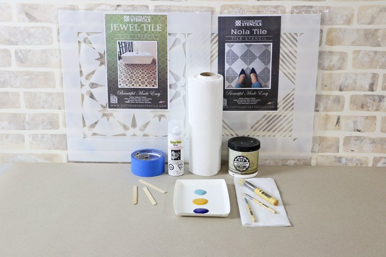 Product photos for stencil project