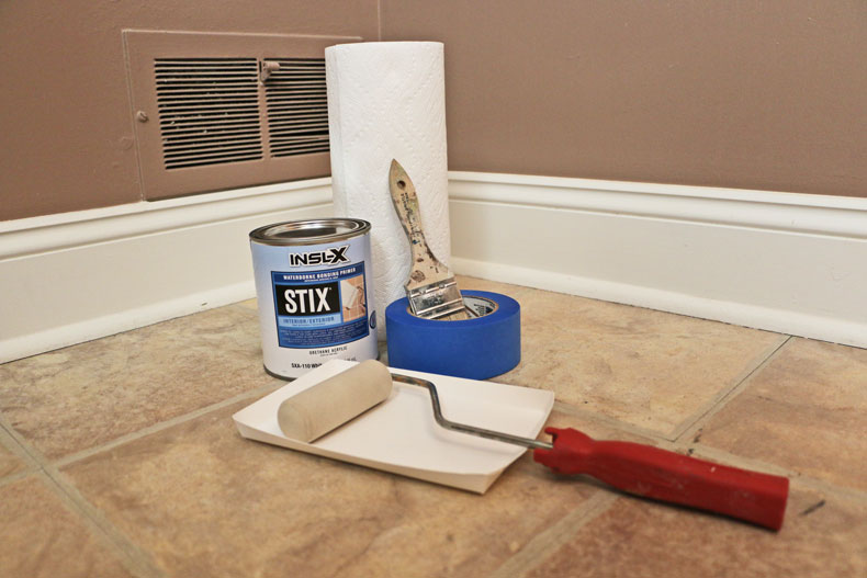 Stix primer and painting materials for floor