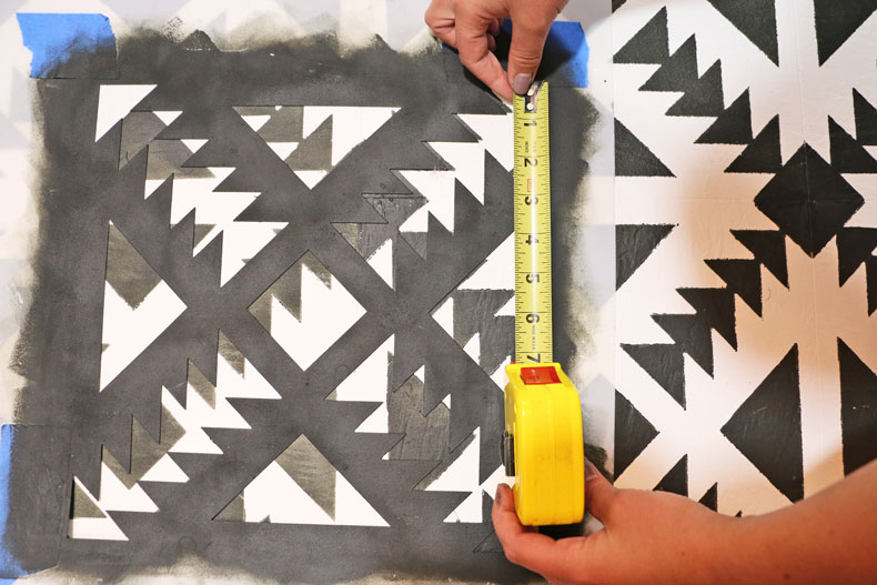 Measuring the tile stencil