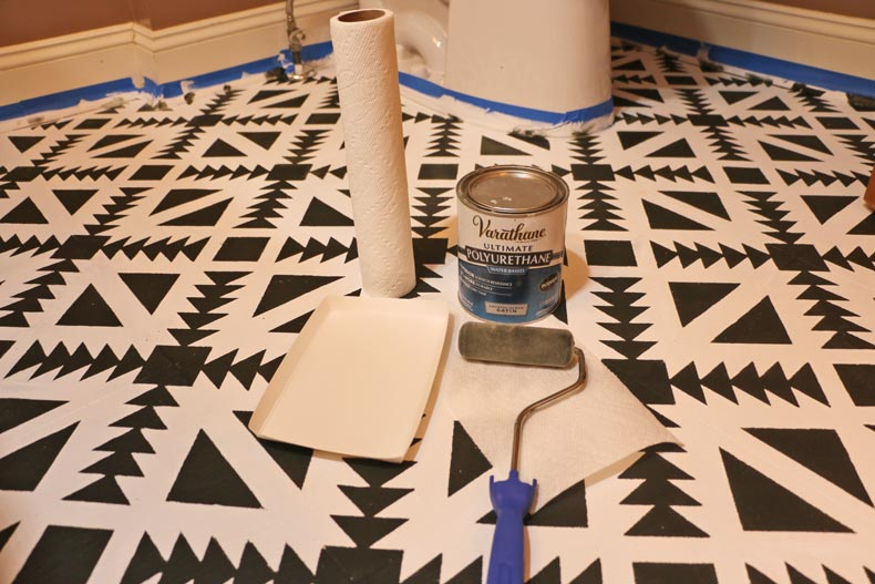 Water based polyurethane for the floor