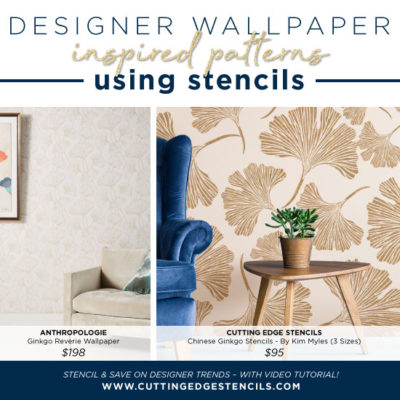 Designer Wallpaper Inspired Patterns using Stencils