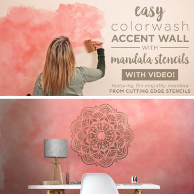 Easy Colorwash Accent Wall with Mandala Stencils