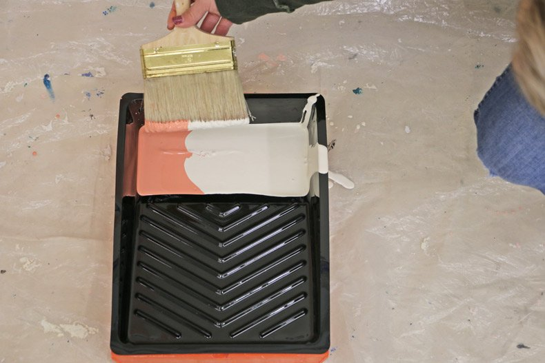 dipping paint brush intro tray