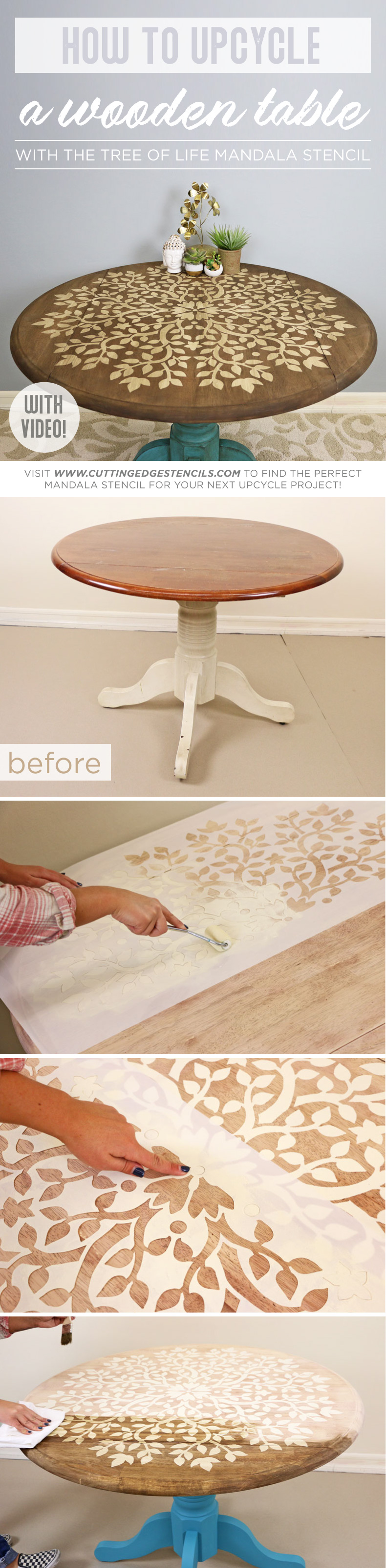 How to Upcycle Wooden Table