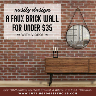 Easily Design a Faux Brick Wall under $35