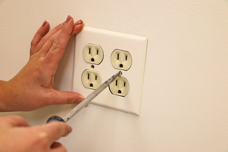 Remove cover of electrical plugs