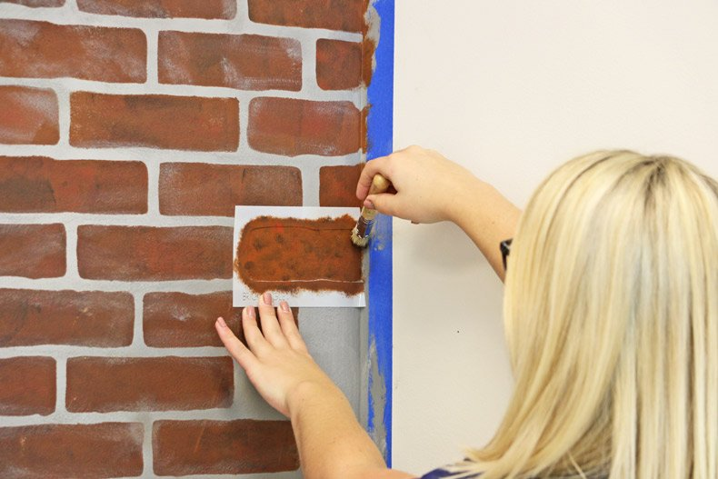 Paint over individual bricks