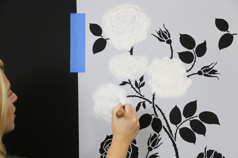 Painting in the flowers