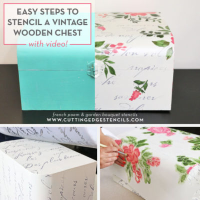 Easy Steps to Stencil a Vintage Wooden Chest
