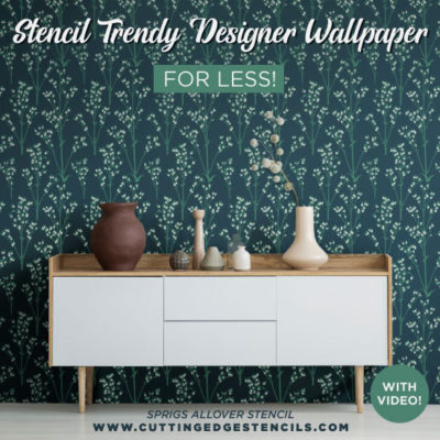 Stencil Trendy Designer Wallpaper for Less!