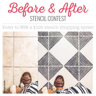 BEFORE AND AFTER STENCIL CONTEST